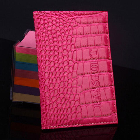 Alligator Print Passport Cover