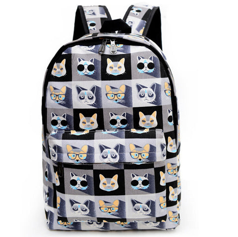 Fashion & Animal Print Canvas Backpack