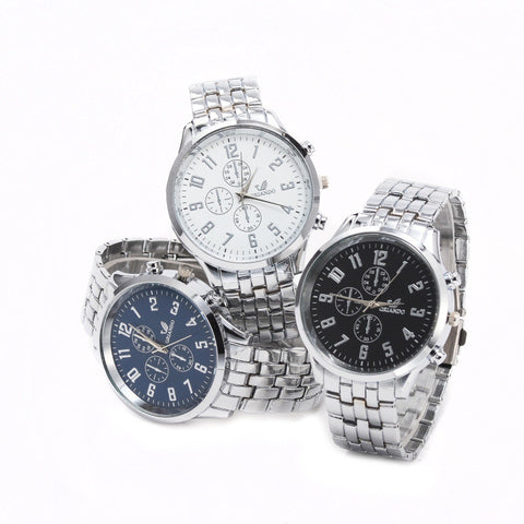 Luxury Brand Full Stainless Steel Analog Display Quartz Watch Unisex