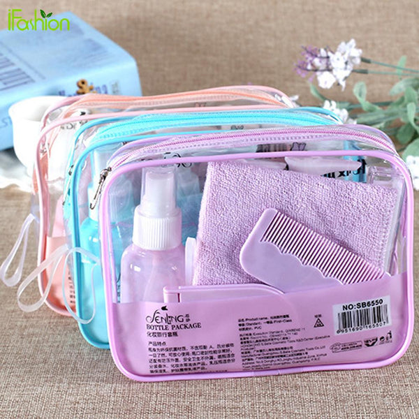 10Pcs Portable Travel Kit with Pouch