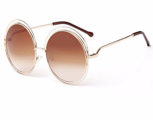 Carlina Vintage Round Wire-Frame Sunglasses