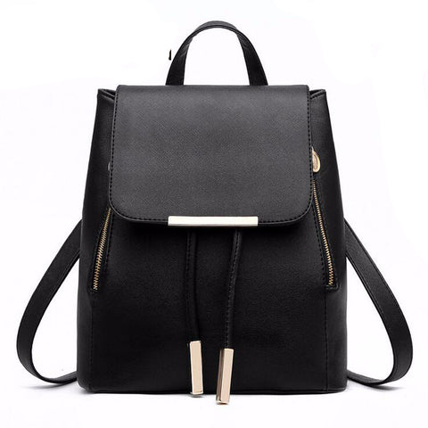 PU Leather Backpack with handle Top