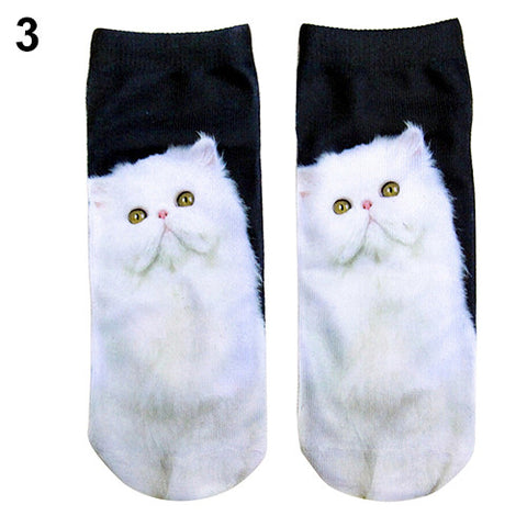 Popular Women's Low Cut Cat Sock in 3D Print