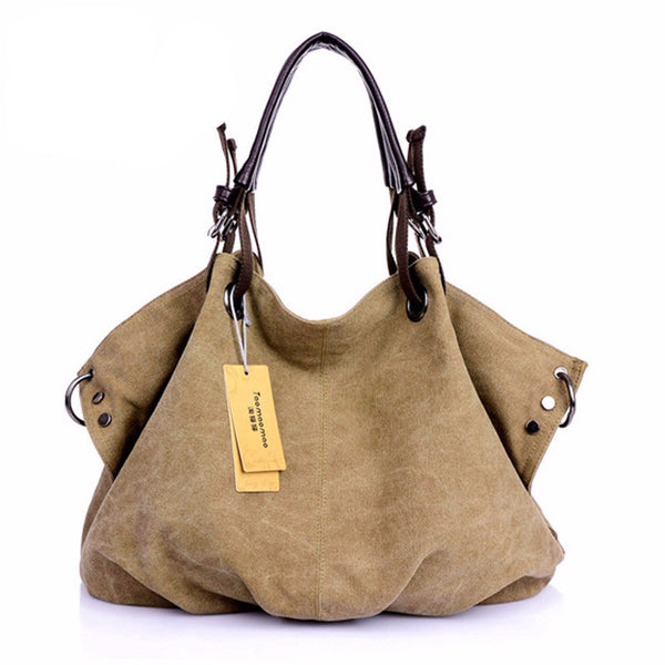 Canvas Boho Shoulder Bag