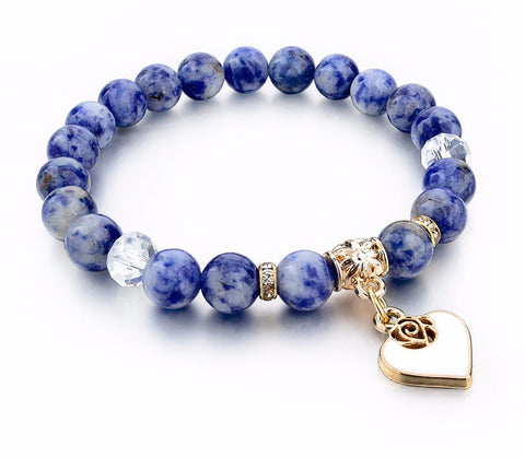 Boho Natural Stone Heart Bracelet - FREE Shipping with 3 or MORE! - Passion Promos
