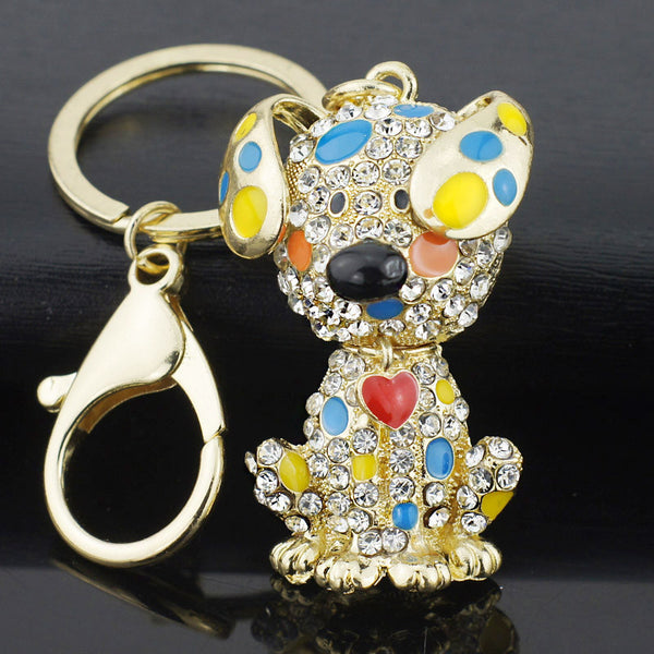Dalmatian Heart Crystal Keyring Keychain - FREE! Just pay shipping
