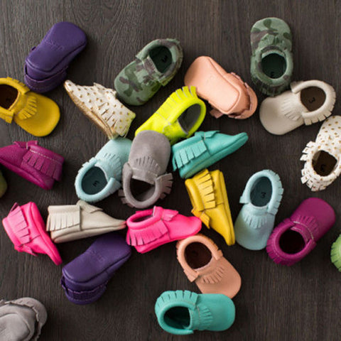 Baby Soft Sole Pre-Walker Moccasins Sneakers - FREE + Shipping!