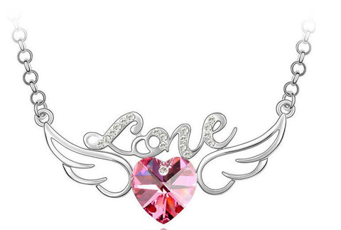 Heart Wing Pendant Necklace
