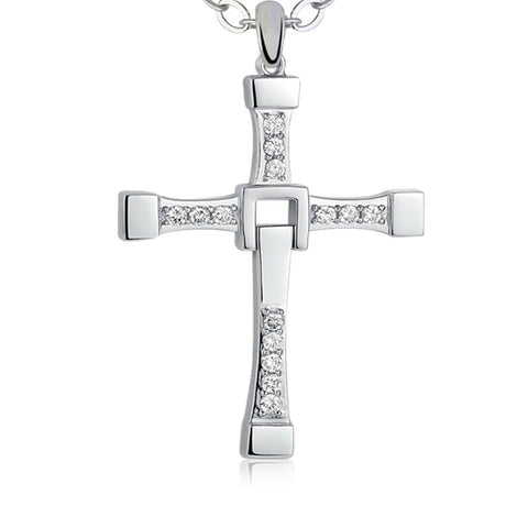 Silver Plated Cross Necklace - Passion Promos