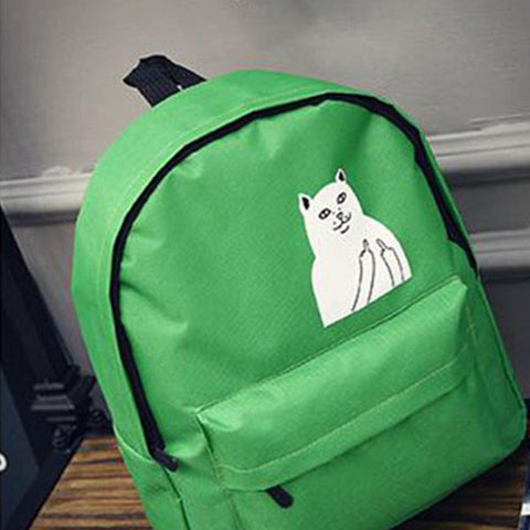 Cat Inspired Fashion Travel Backpack
