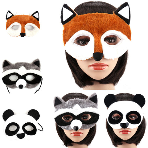 Animal Mask- Panda Fox Lion Leopard Wolf Style