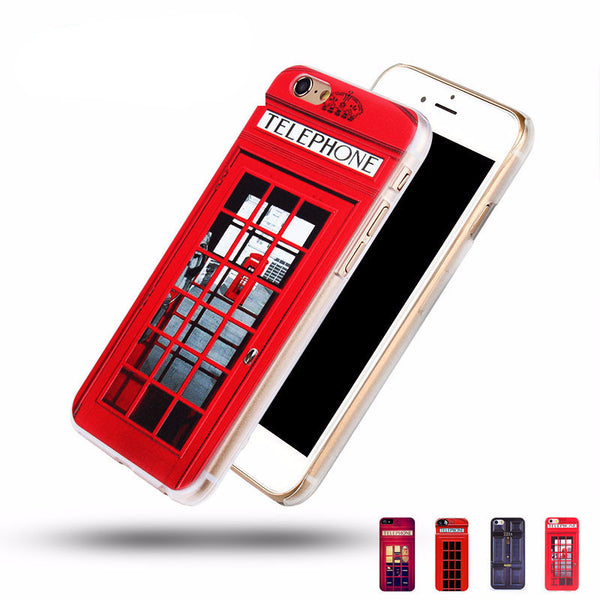 London Style Telephone Booth Case for iPhone