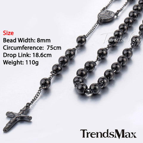 Stainless Steel Rosary Bead Chain - Passion Promos