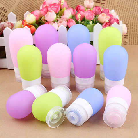Colored Silicone Travel Container Bottle