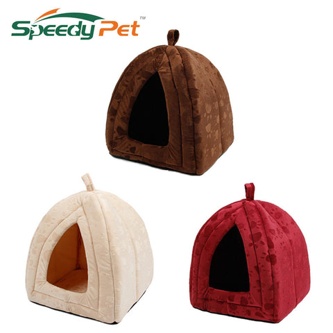 Super Soft Fabric Pet Kennel House & Bed