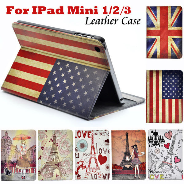 Smart Stand PU Leather Case For Apple Ipad Mini