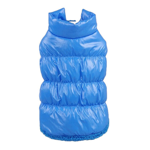 Fleece + Polyester Winter Pet Padded Vest Jacket