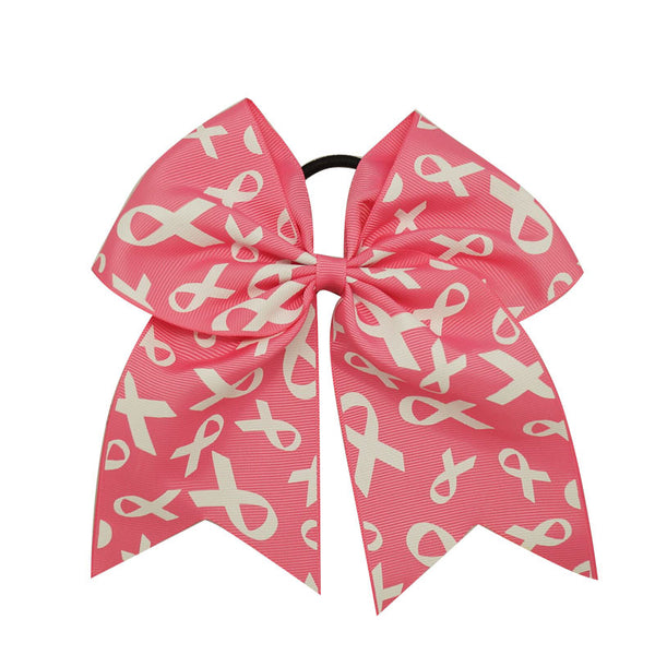 3pcs Big Pink Breast Cancer Awareness Cheer Bows