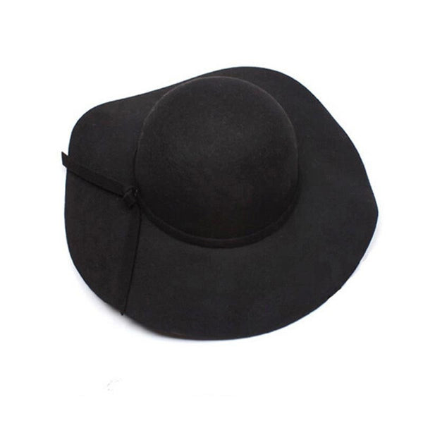 Chapeau Floppy Wide Brim Wool Felt Sun Hat