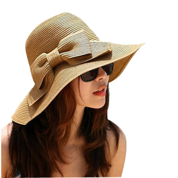 Bohemian Wide Brim Floppy Summer Straw Hat