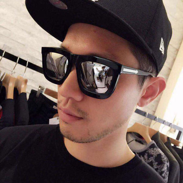 Mercury White Square Men Sunglasses