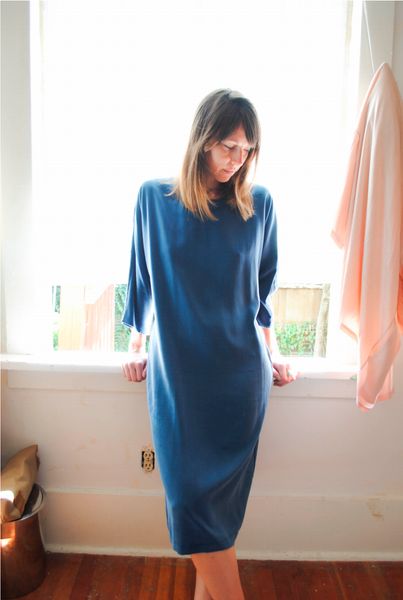 LLOYD Clothing Vancouver 19th ave blue tencel dress