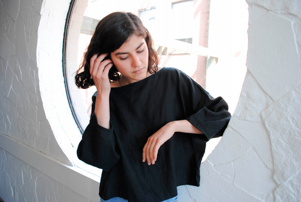 LLOYD Clothing Vancouver black linen top