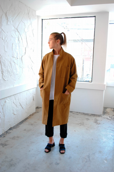 LLOYD Clothing Vancouver camel factory coat