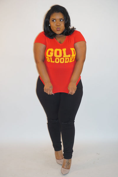 Gold Blooded V Neck