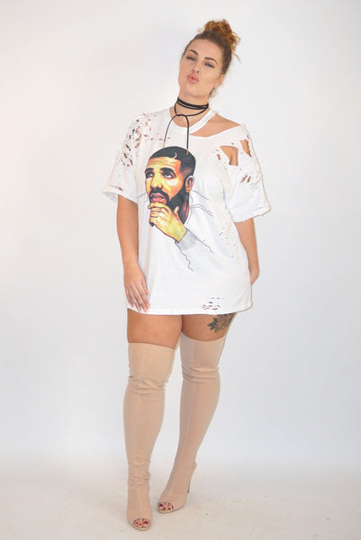 Champagne Papi Distressed Tee
