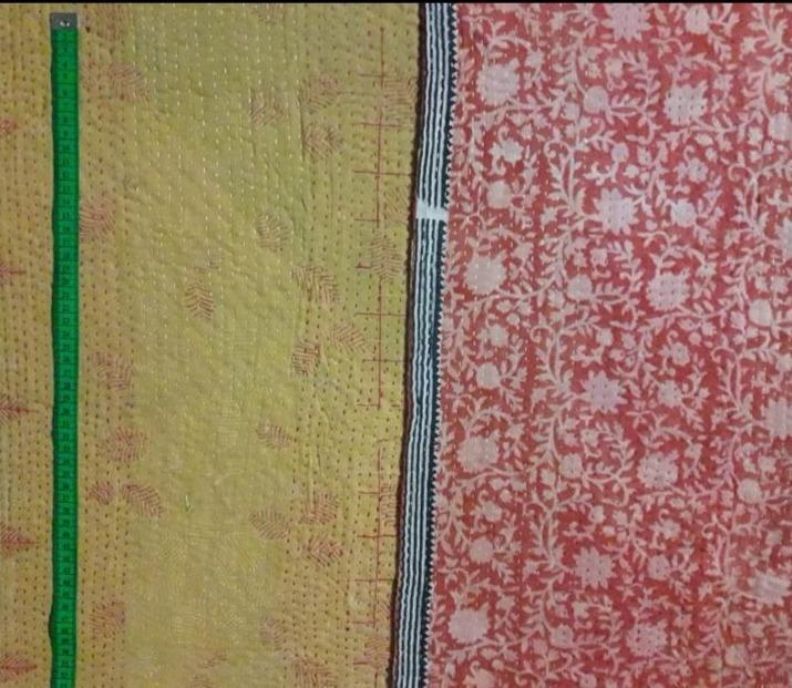 3 leaf Kantha Blanket (single)
