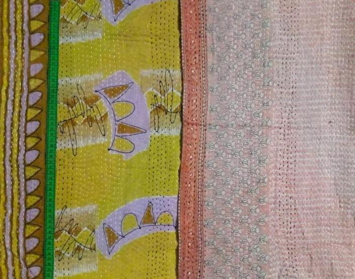 Birthday party 2 Kantha Blanket (single)