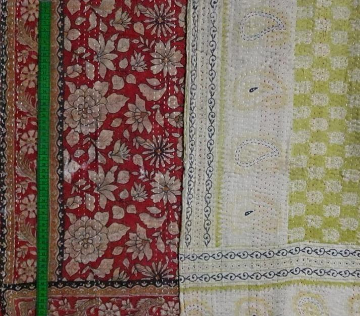 Red garden 2 Kantha Blanket (single)