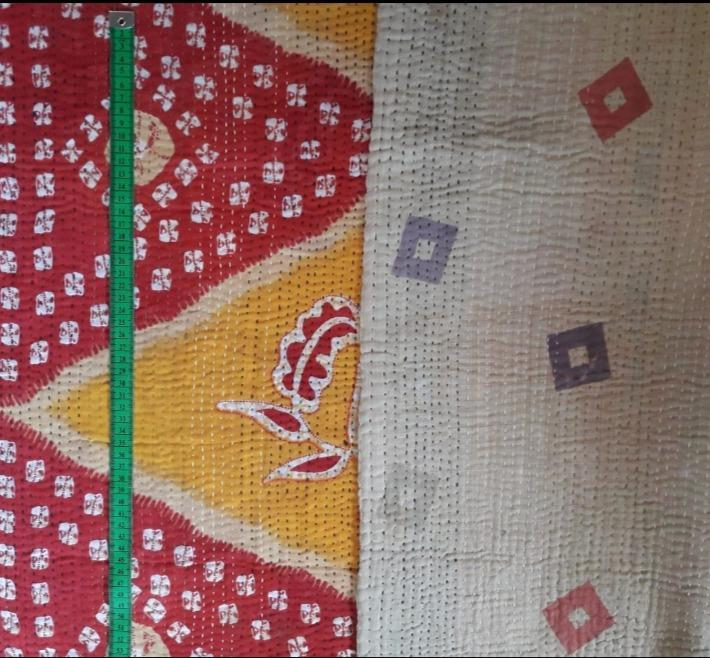 Red tie Kantha Blanket (single)