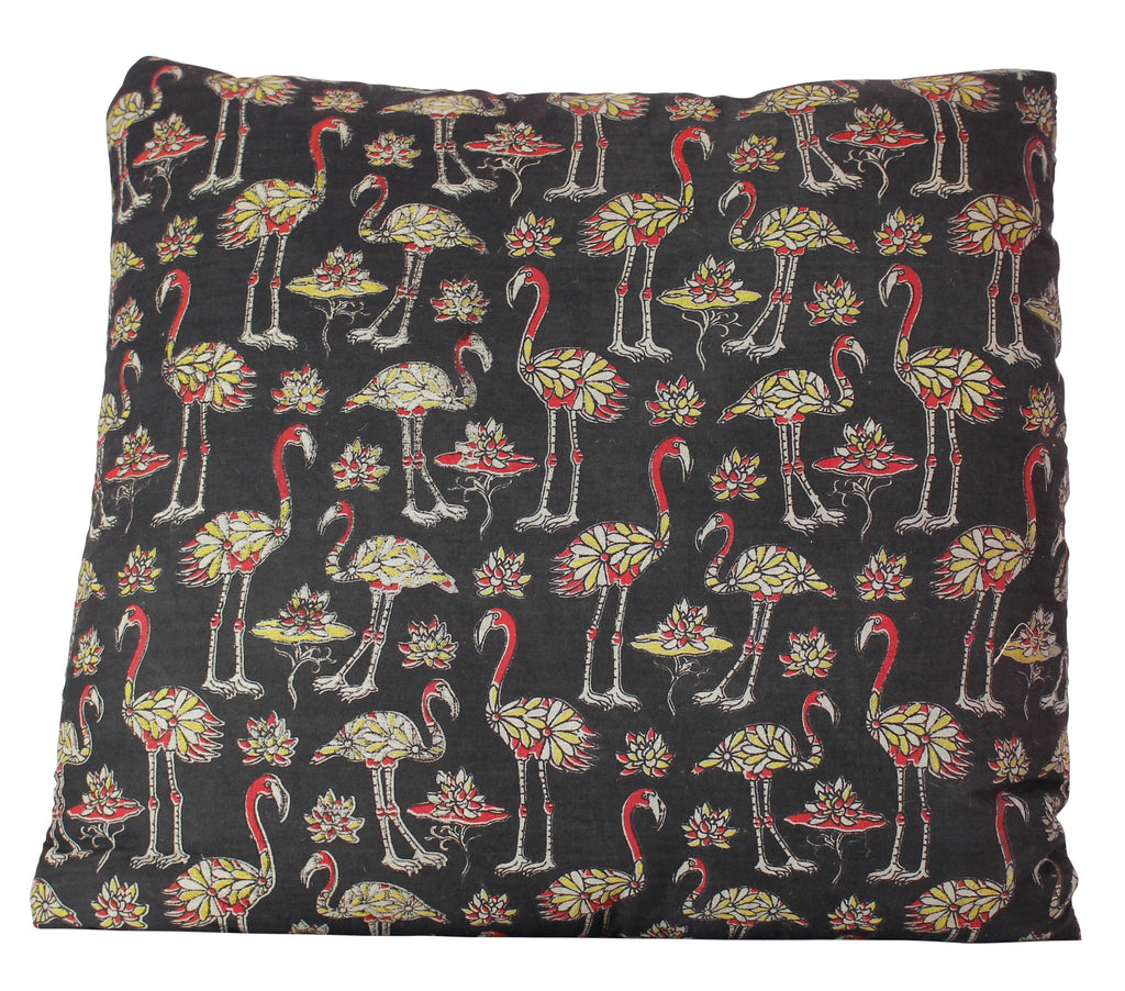 Flock of Flamingos Black Secret Pillow
