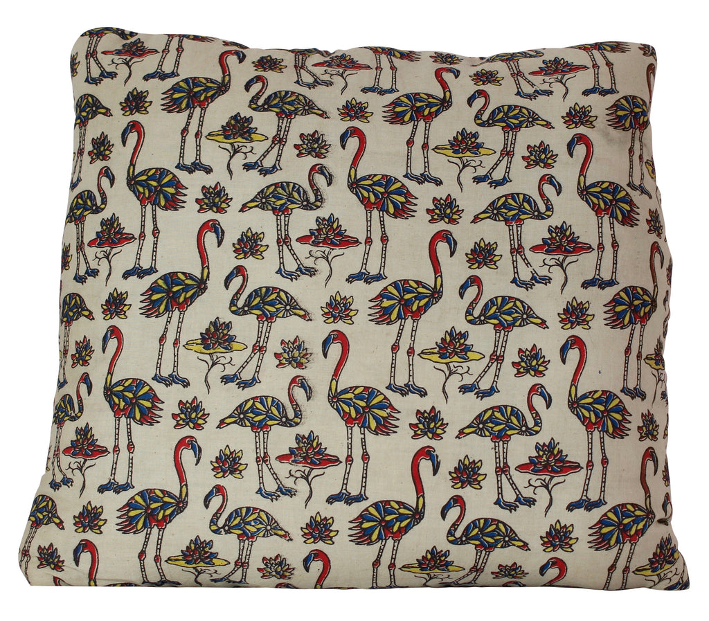 Flock of Flamingos Cream Secret Pillow