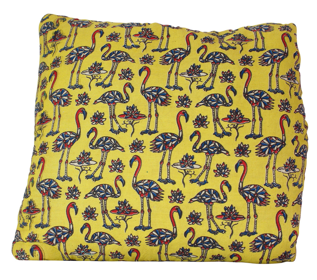 Flock of Flamingos Yellow Secret Pillow