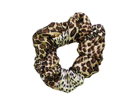 Secret Scrunchie Large-Lady Leopard