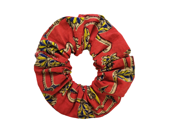 Secret Scrunchie Large-Flamingo Red