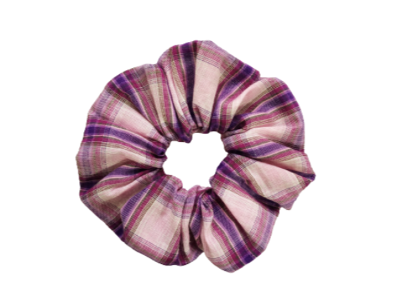 Secret Scrunchie Large-Mavue Check