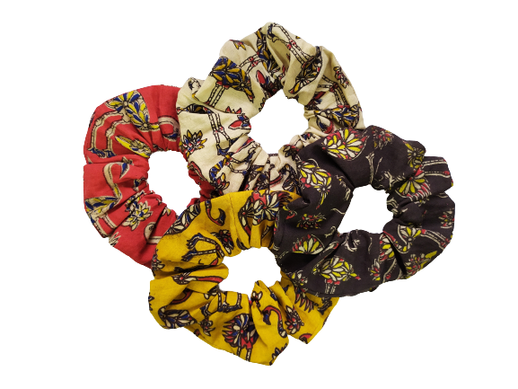 Secret Scrunchie Large-Pack of 4 Flamingo