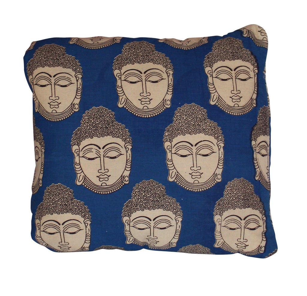 Buddha Secret Pillow in Blue