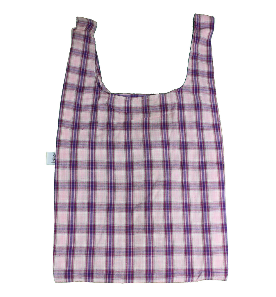 Mauve Check Secret Shopping Bag
