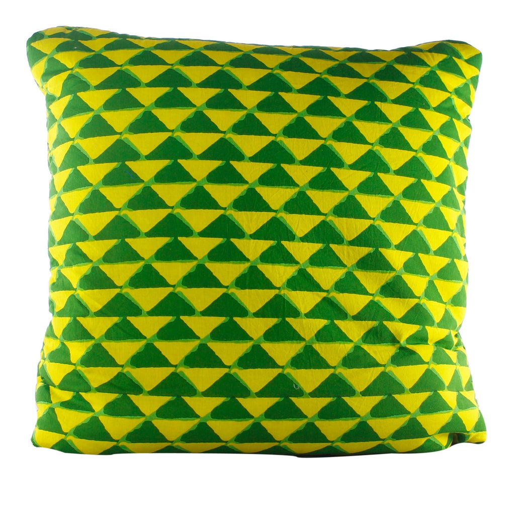 Triangle Mania Green & Yellow Secret Pillow