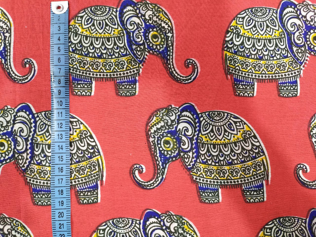 Fabric by the Meter - Baby Elephant Red