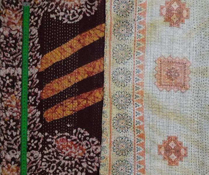 Dark chocolate Kantha Blanket (single)
