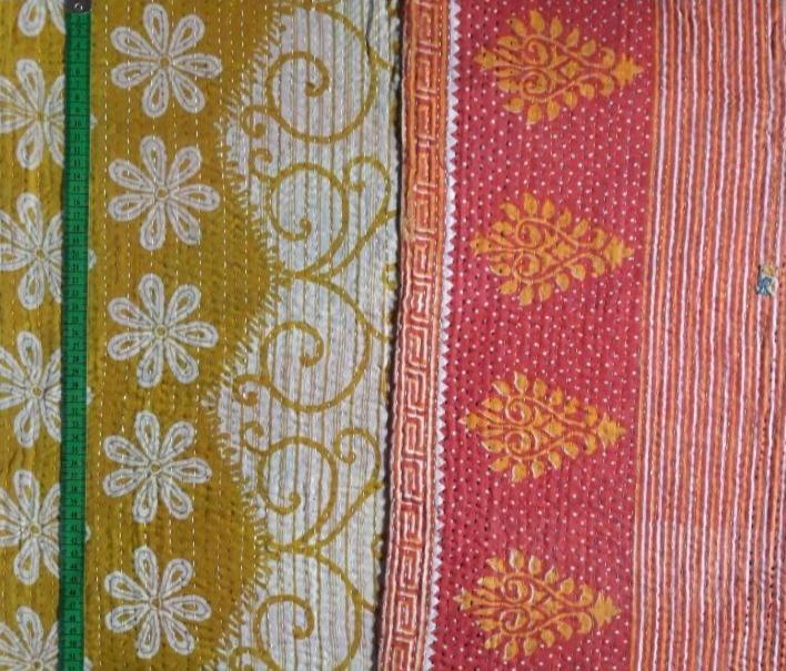 Flower hill Kantha Blanket (single)