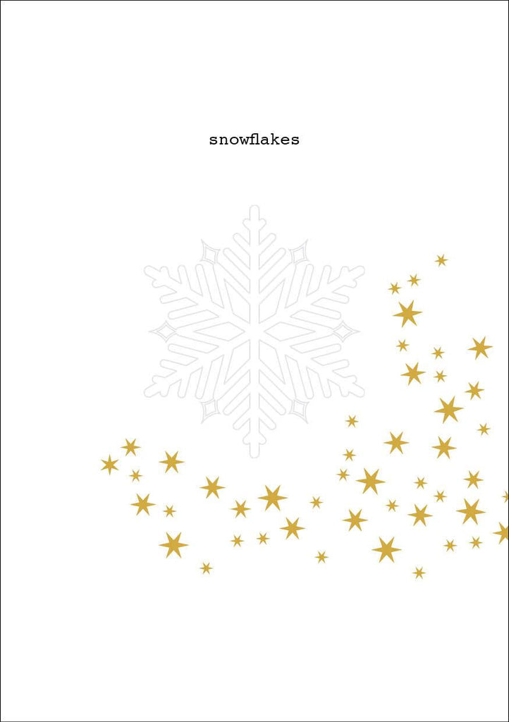 Snowflakes Christmas Card and Donation Towards our Training for Empowerment Program