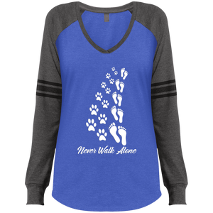 Never Walk Alone - V Neck Long Sleeve
