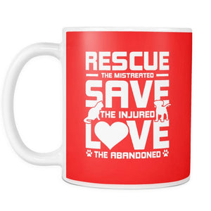 Rescue Save Love - Mug - Our Pet Card